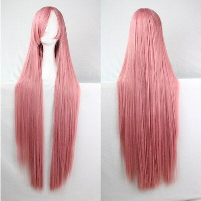 Hot Sell Fashion New Womens Wigs Long Straight Anime Cosplay Party Wig 80/100cm