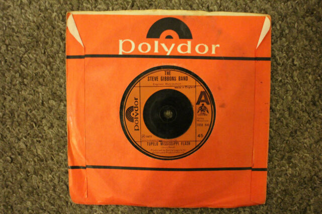 """7"""" VINYL SINGLE, THE STEVE GIBBONS BAND, TULANE, NOW YOU KNOW ME, 1977, EXC COND"""