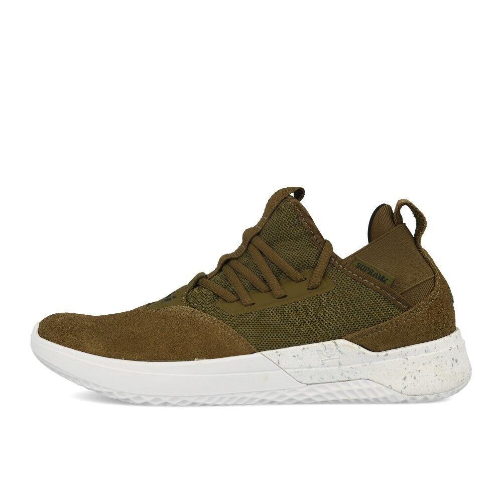 Supra Titanium Olive blanco zapatos Trainers verde blanco