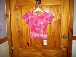 *** Regard *** Nouveau M&s Rose Détail T-shirt 9-12 Mois **-afficher Le Titre D'origine MatéRiaux De Haute Qualité