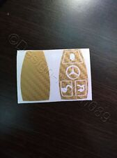 Carbon Gold Folie Dekor Schlüssel Mercedes C E AMG Brabus W204 CLK W209  W