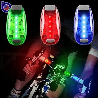 LED Clip On Running Bike Rear Safety Warning Tail Light Flashing Cycling Lamp US