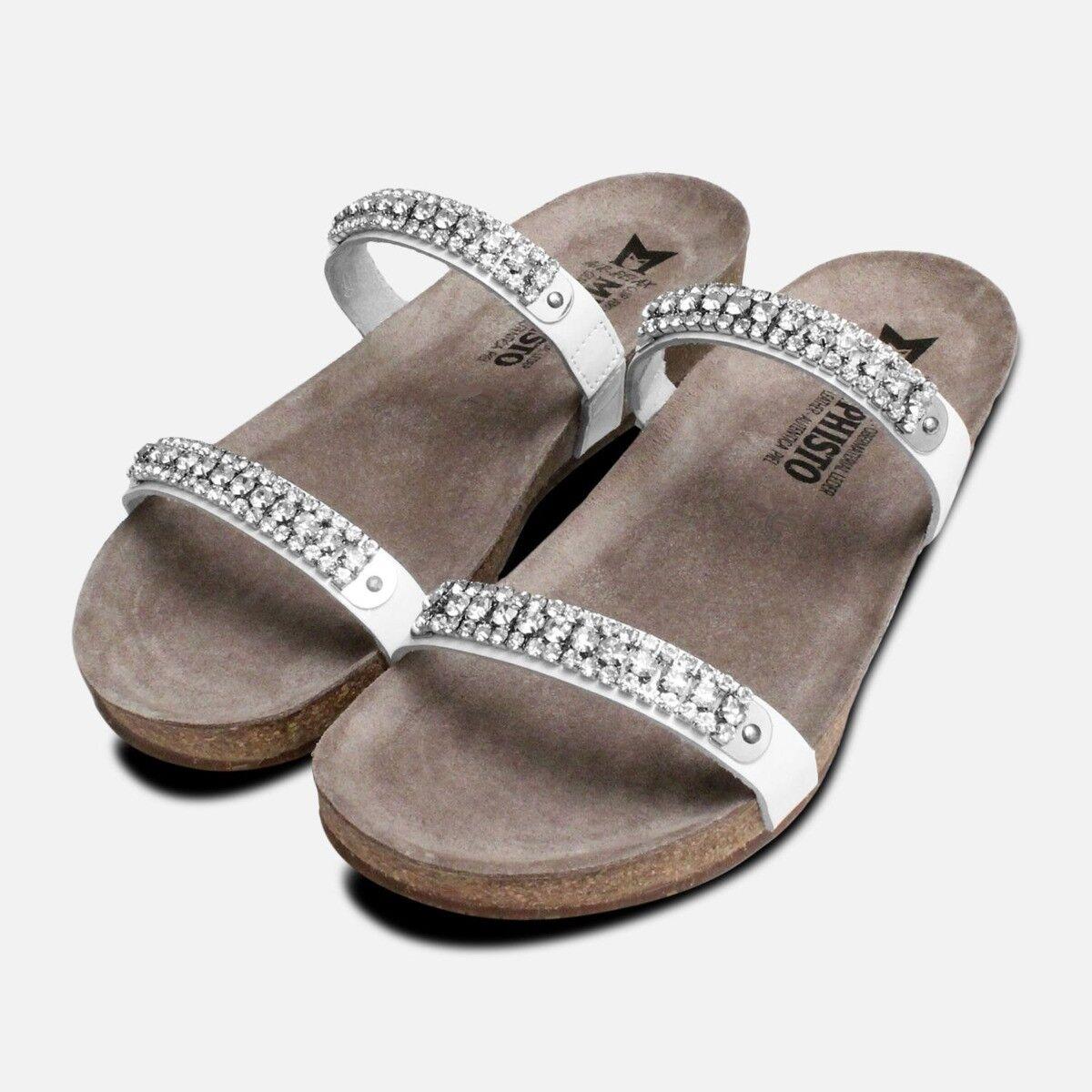 Weiß Crystal Patent Ivana Mephisto Sandals