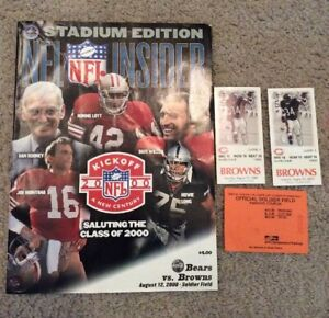 2000-CHICAGO-BEARS-VS-CLEVELAND-BROWNS-FOOTBALL-NFL-PROGRAM-amp-2-TICKET-STUBS