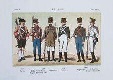 K. K. LANDWEHR Uniform k.u.k. Armee Kunstdruck Reproduktion art print TXXXI