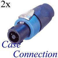 2x Neutrik Nl4fx Speakon Stecker - 4polig Speaker Plug - 4 Pole