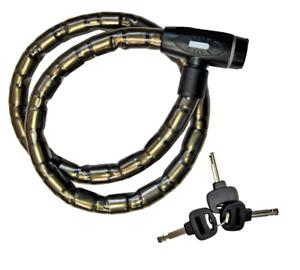 Staubschutzkappe /& 3 Schlüssel 0419 NEU Panzergliedschloss Fahrradschloss inkl