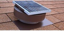 Attic Exhaust Fan 365 CFM House Ventilation Solar Powered Roof Mounted Vent