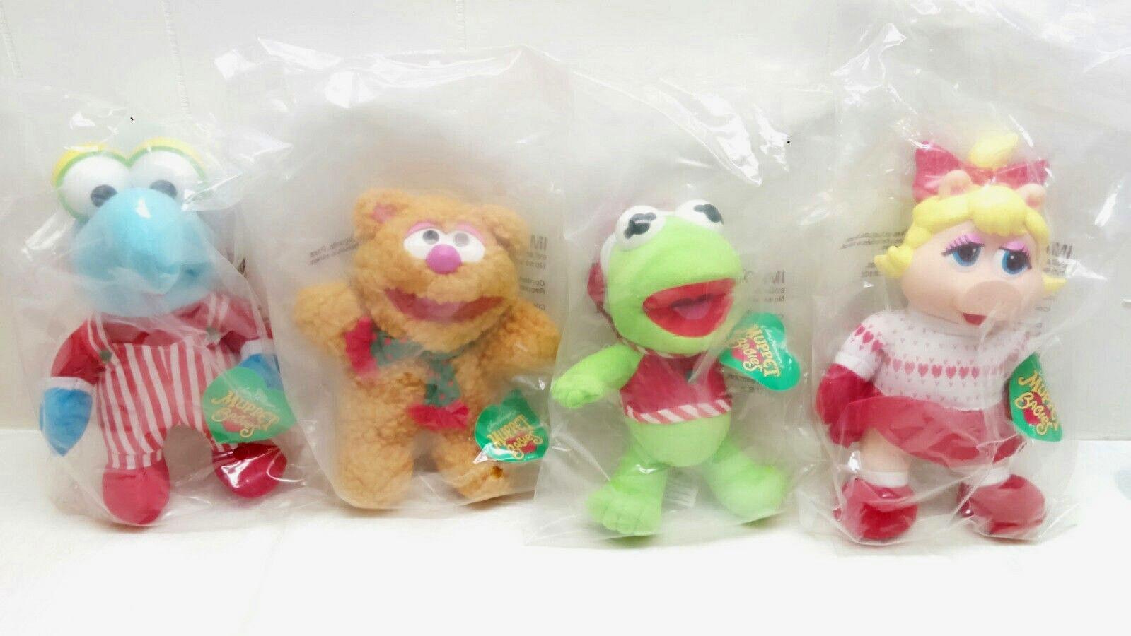 McDonald's - Jim Henson's The Muppets -1994 - New Complete Set, RARE Plush Dolls