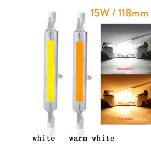 Dimmbare R7s LED Birne 78mm 118mm Glaskeramik COB Tube Glühbirne 7W 15W 28W 220V