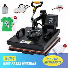 15x15 Inch 1400w T Shirt Press Professional Swing Away Heat Press Machine 5 In 1