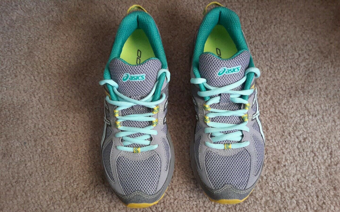 Womens ASICS Gel Sonoma Grey T4F7N 9644 Green Yellow Sneakers shoes 6.5