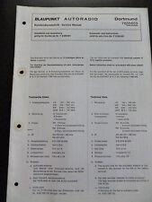ORIGINALI service manual BLAUPUNKT AUTORADIO Dortmund