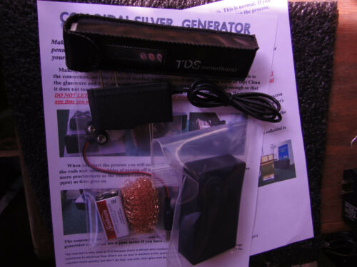 Colloidal Silver Generator Dual Powered AC//DC  Emergency//Survival Kit PPM Meter