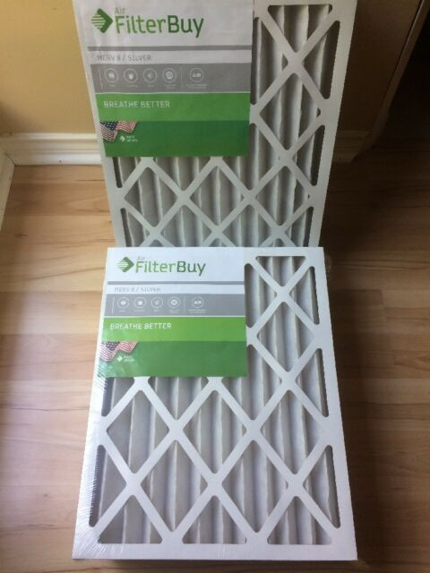 Pack of 2 Filters FilterBuy 24x30x1 MERV 8 Pleated AC Furnace Air Filter, 24x30x1 Silver