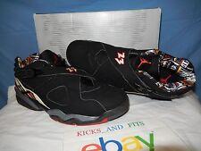 03 Nike Air Jordan VIII 8 Retro Low PLAYOFF BLACK RED BRED WHITE 306157-061 14