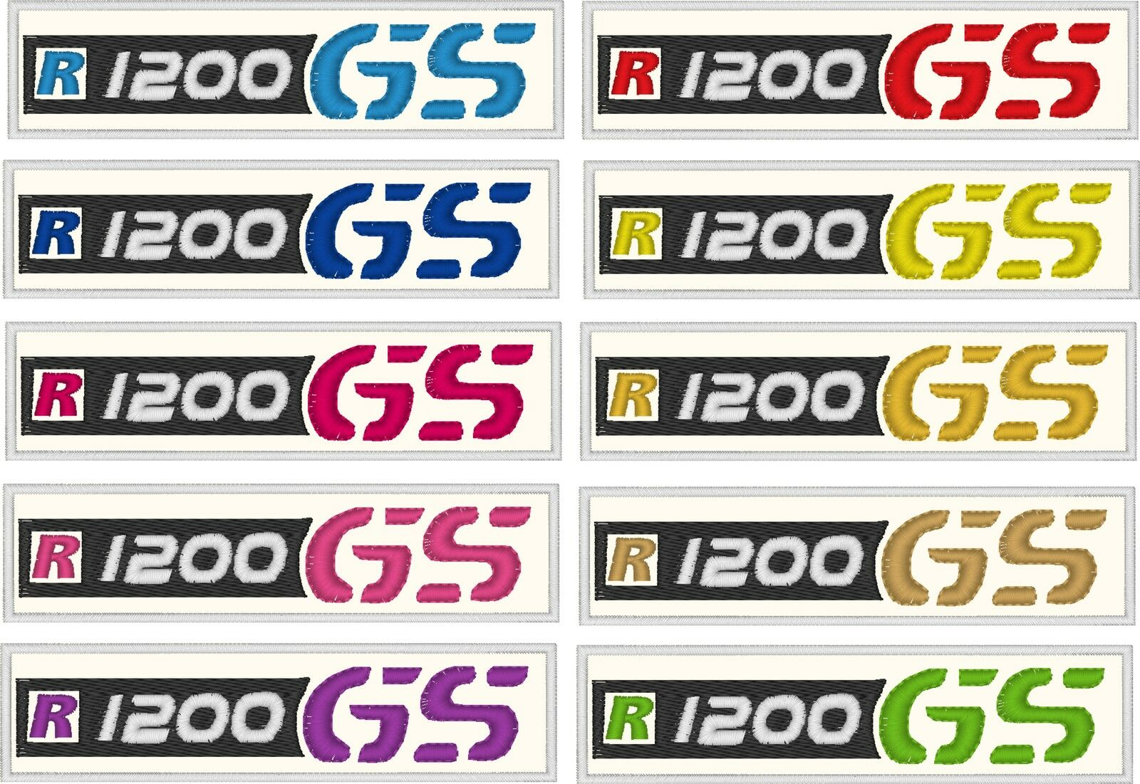 Patch BMW R1200gs R 1200 Gs R1200 Gs Embroidered Thermoadhesive cm 12x 2,5
