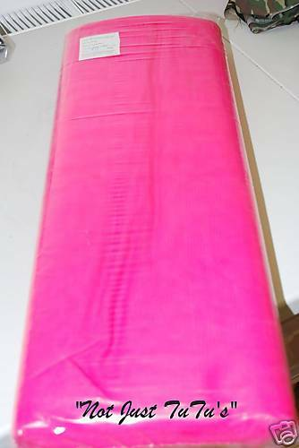NeW FLUORESCENT pink  CERISE PINK DRESS NET TULLE 2 METRES X 59.06ins