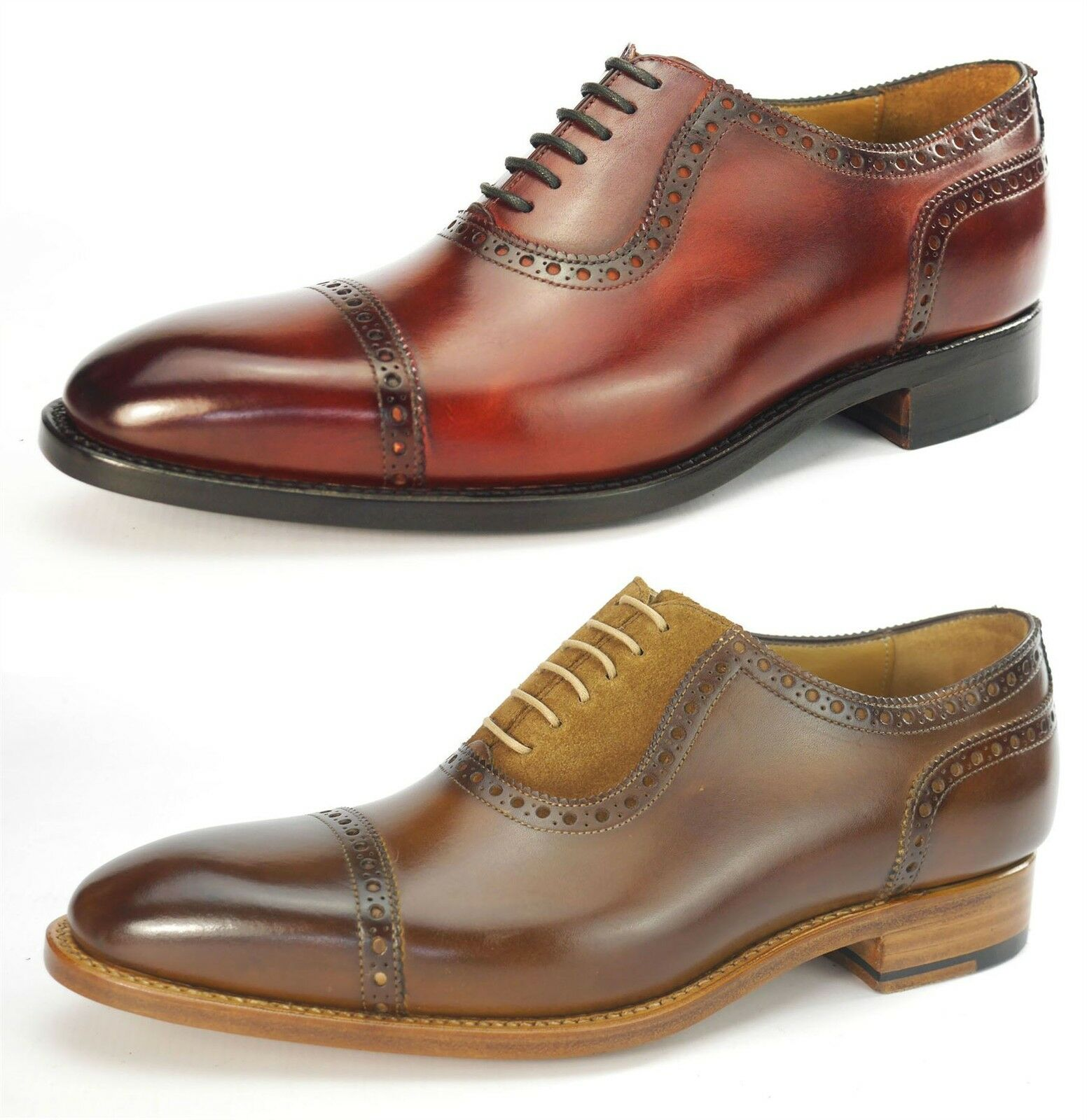 Carlos Santos All Leather Welted Handmade Mens Lace Up schuhe 4391