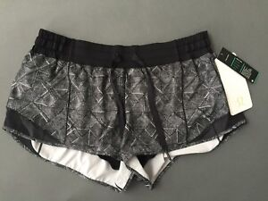 bb5b7bc72 Lululemon Hotty Hot Short women s Size 10 Stretch Black   White ...