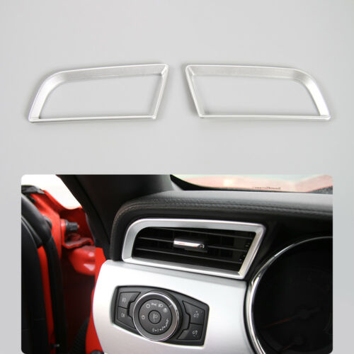 4 Colors For Ford Mustang 15-16 Dash Board Left Right Air Outlet Vent Frame Trim
