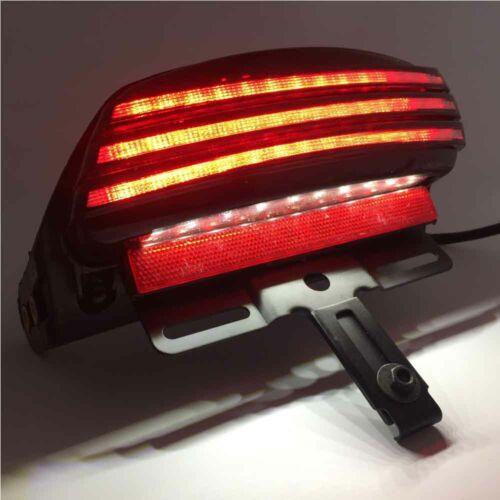 Tri-Bar Fender LED Tail Light Bracket For Harley Softail FXST FXSTB FXSTS FF