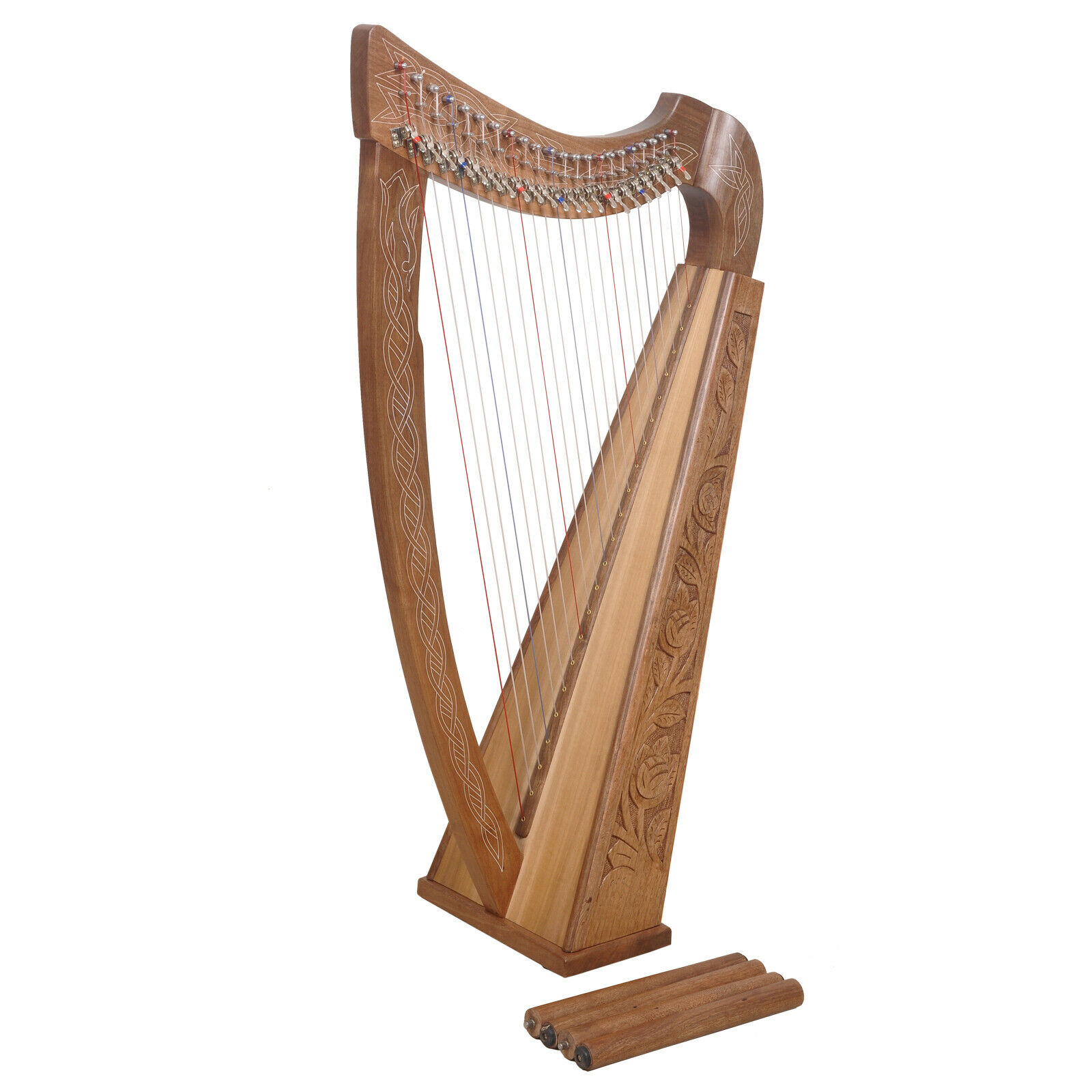 Muzikkon 22 String Boru Harp with Stand ,Celtic Irish harp,Irish Lever Harp
