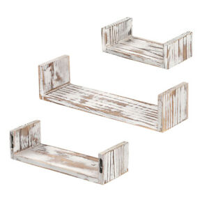 Details About Roolee Floating Shelves For Wall Mounted Rustic Wood Set Of 3