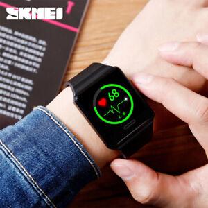 SKMEI-Fashion-Sports-Men-039-s-Smart-Watch-Blood-Pressure-Heart-Rate-Monitor-1526-0