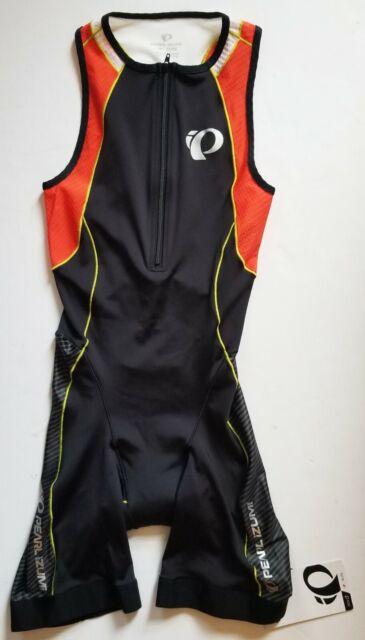 Pearl Izumi Men/'s ELITE In-R-Cool Tri suit Triathlon Black//Mandarin Red 13111301