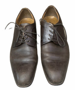 mens aldo brown leather laced casual dress shoes size 95