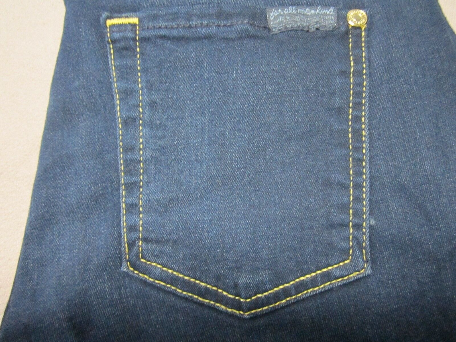 SEVEN 7 FOR ALL MANKIND WOMENS THE MID RISE ANKLE SKINNY DARK blueE JEANS SIZE 26