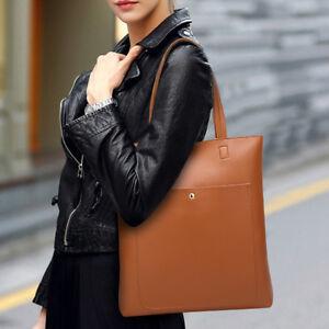 Solid-Shoulder-Women-Bucket-Tote-Large-Capacity-Girls-Handbag-Zipper-Closure-Bag
