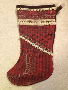 image is loading fancy red velvet christmas stocking handcrafted