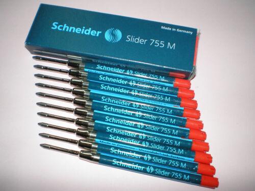 10x Schneider Slider 755 M rot Visco Glide Kugelschreibermine 175602 NEU/&OVP