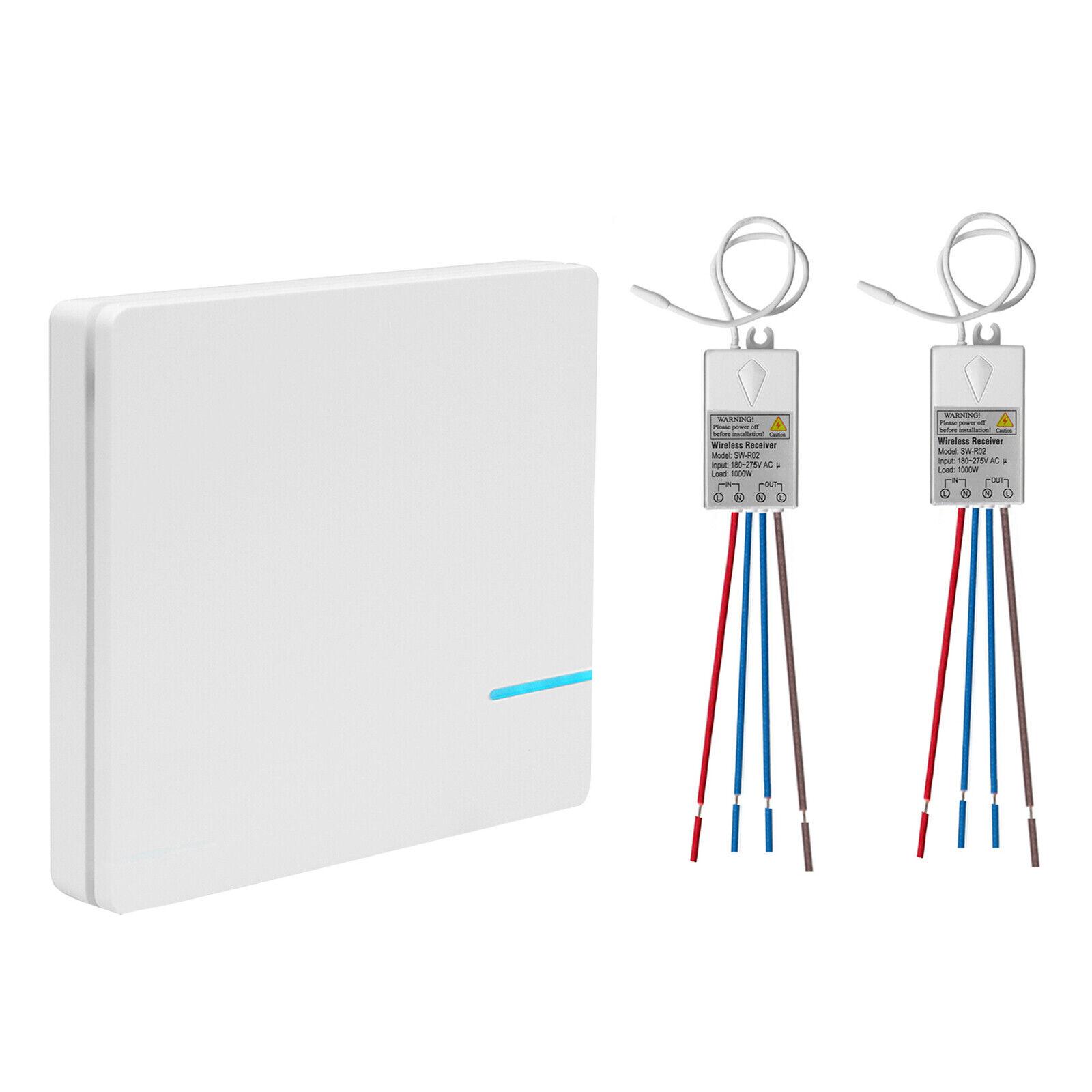 Wireless Lichtschalter Empfänger Kit Funkschalter Licht Wandschalter Hotel Bar | Überlegene Qualität