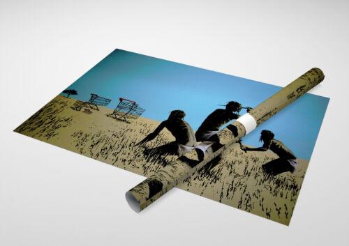 """Banksy Caveman Shopping Carts Archival Canvas Print 30/""""x20/"""""""