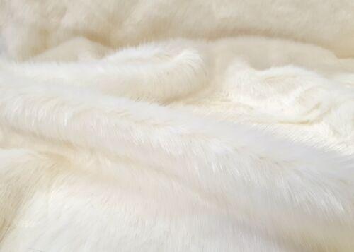 Webpelz Mohair Moelleux Fausse Fourrure Synthetique tissu ECRU Décoration Tapis Couverture nb7005