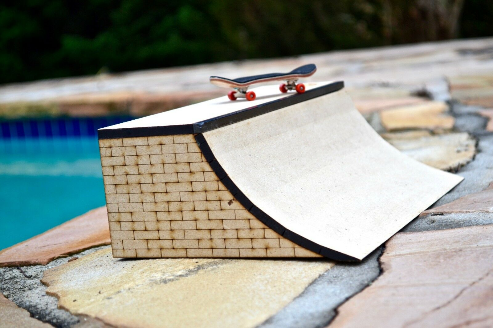 Fingerboard Fingerboard Fingerboard Ramp Obstacle Mini Quarter Pipe 7012ab