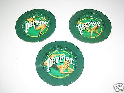 Cendrier Rond en métal Vert Playmate Perrier Diamètre 14 cm 3 au Choix