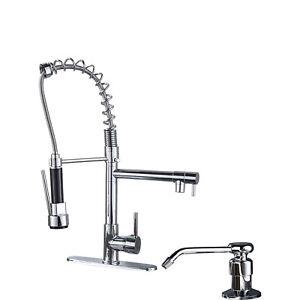 Single-Handle-Kitchen-Faucet-Pull-Down-Sprayer-Swivel-Sink-Mixer-Tap-Chrome