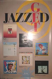GET-JAZZED-1987-Warner-promotional-poster-23x35-EX-Miles-Davis-Masekela