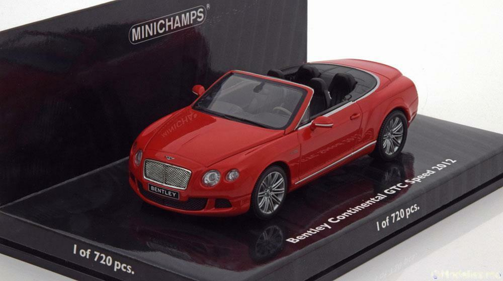 BENTLEY CONTINENTAL GTC SPEED 2012 ST JAMES rosso MINICHAMPS 436139061 1/43 ROSSO