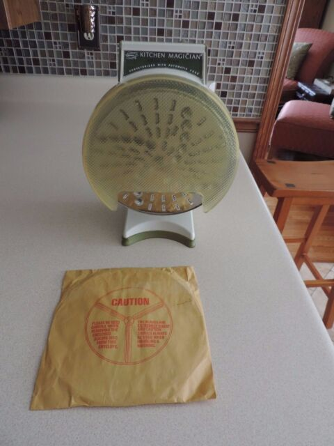 Popeil KITCHEN MAGICIAN Food Slicer Cutter~Retro 70's Ronco Classic~EUC~
