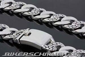 Biker-Halskette-Snake-Mammut-Groesse-XL-massiv-schwer-Edelstahl-ca-2-3-cm-breit