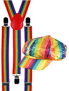 Rainbow-Gay-LGBT-Pride-Suspenders-Carnival-Fancy-Dress-Costume-Sequinned-Cap-Hat
