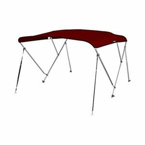 Msc 3 Bow Bimini Top Boat Cover With Rear Support Pole And
