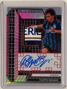 2020-21 Panini Obsidian Matrix Patch Autograph Red 3/3 Filippo Inzaghi Juventus