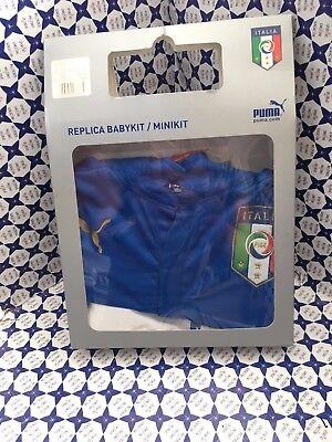 Set Puma Italia Kids Bimbo Bimba T Shirt e Shorts Bianco Azzurro 744302   eBay
