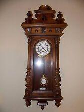 """Rare Time Only Walnut Lenzkirch RA Regulator Clock 1871 Runs Great! 38"""""""